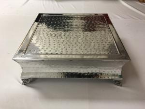 Medium Silver Square Cake Stand 6.5x18
