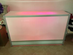 White Acrylic Bar w/o LED Light