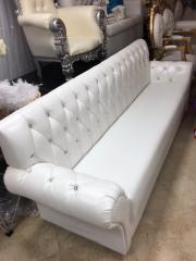 6 FT White Low Back Bling Lounge Chair