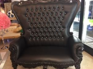 Black Love Seat Throne Chair