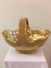 Gold Flower Basket
