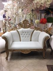 Gold Crown Love Seat