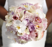 White, Lavender, and Blush Bouquet