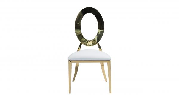 Cartier Round Open Back Chair (Gold)
