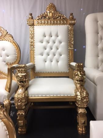 Single Lion Throne Chair (Gold)