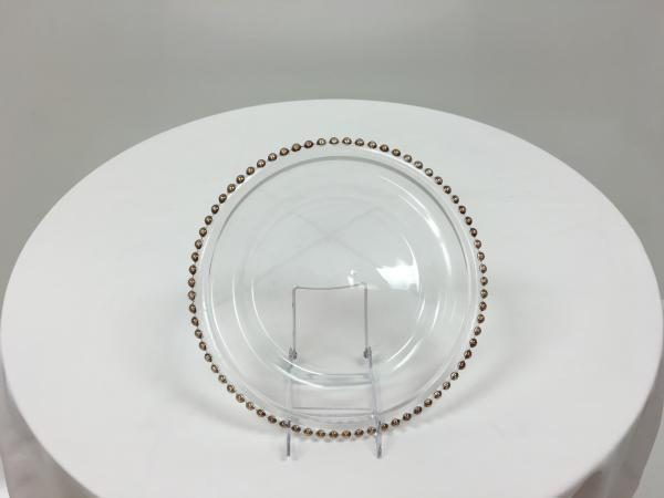 Clear Glass Beaded Charger