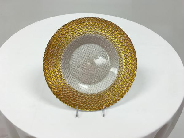 Gold Trimmed Glass Charger