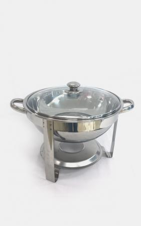 Round Chafer With Clear Lid