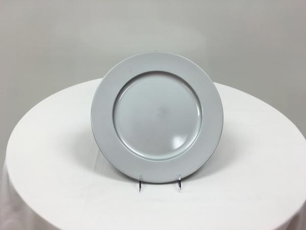 Silver Plastic Charger