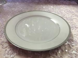 Silver Trimmed Dinner Plate