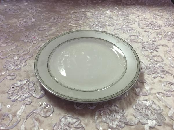 Silver Trimmed Salad Plate