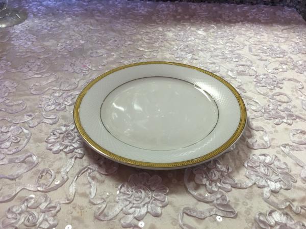 Gold Trimmed Salad Plate