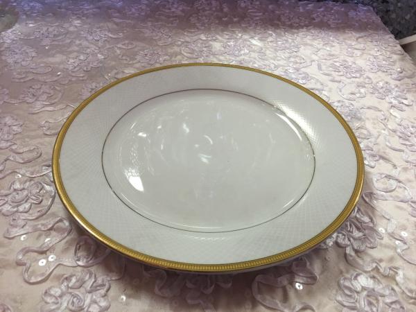 Gold Trimmed Dinner Plate