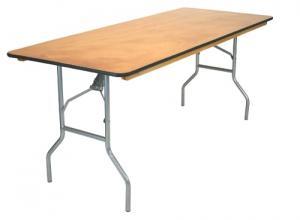 Rectangular 6\'  Wood Table