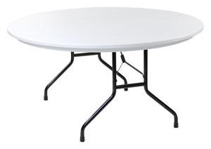 Round 5\' Plastic Table