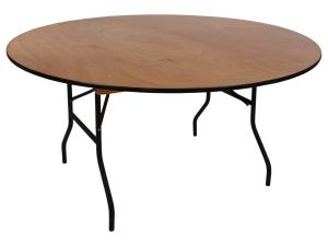 Round 6\' Wood Table
