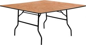 Square 5\'x5\' Wood Banquet Table