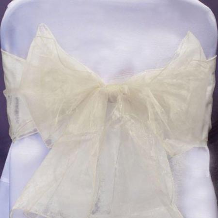 Chair Sashe Organza Color Ivory