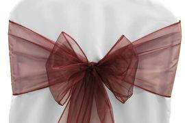 Chair Sashe Organza Color Burgundy