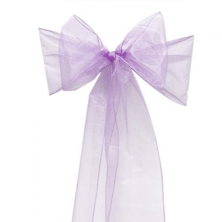 Chair Sashe Organza Color Lavender