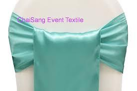 Chair Sashe Satin Color Tiffany Blue
