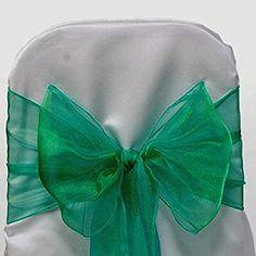 Chair Sashe Organza Color Holly Green