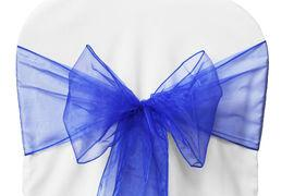 Chair Sashe Organza Color Royal Blue