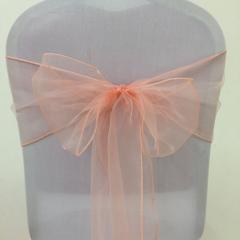 Chair Sashe Organza Color Apricot / Peach