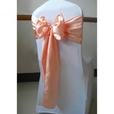 Chair Sashe Satin Color Apricot / Peach