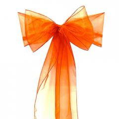 Chair Sashe Organza Color Orange