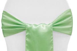 Chair Sashe Satin Color Mint Green
