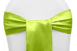 Chair Sashe Satin Color Apple Green