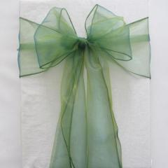 Chair Sashe Organza Color Emerald