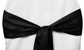 Chair Sashe Satin Color Black