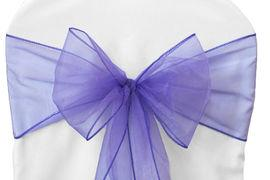 Chair Sashe Organza Color Purple