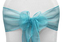 Chair Sashe Organza Color Dark Turquoise