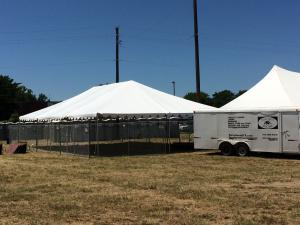 30\' x 80\' Tent Frame / Set up