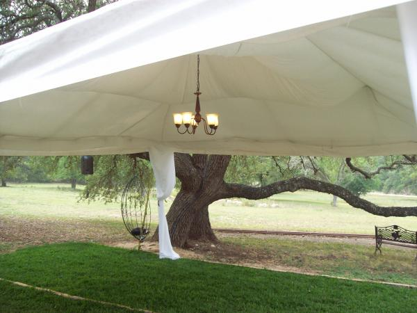 Tent accessories (roof draping, leg wrapping & chandelier)