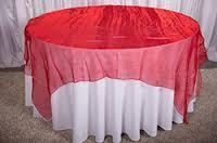 Overlay Organza Color Red