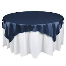 Overlay Satin Color Navy Blue