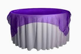 Overlay Organza Color Purple