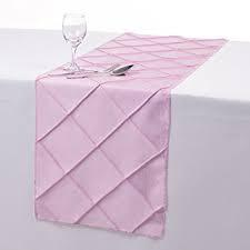 Table Runner Pintuck Taffeta Color Pink