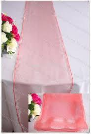 Table Runner Organza Coral