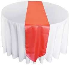 Table Runner Satin Color Coral