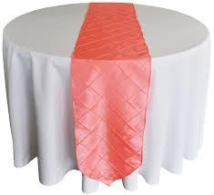 Table Runner Pintuck Taffeta Color Coral