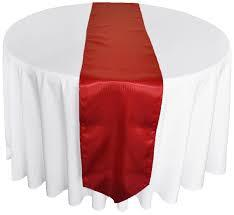 Table Runner Satin Color Apple Red