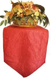 Table Runner Taffeta Color Apple Red