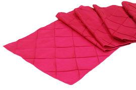 Table Runner Pintuck Taffeta Color Fuchsia