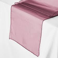 Table Runner Organza Burgundy