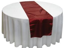 Table Runner Satin Color Burgundy